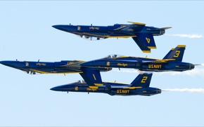 Picture USA, for, F-18, Blue Angels