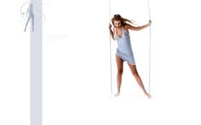 Picture women, girl, swing, model