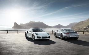 Picture grey, 911, Porsche, turbo, white and