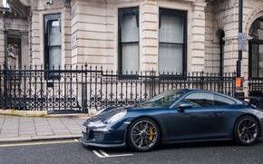 Wallpaper Porsche, Blue, GT3, London, Supercar, 991