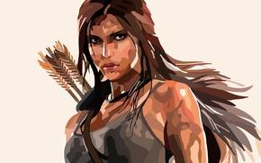 Picture face, Lara Croft, arrows, Lara Croft, Rise of the: Tomb Raider