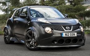 Picture Nissan, black, matt, Juke, Nismo