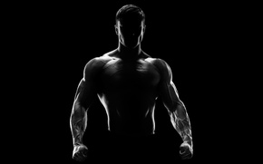 Picture man, silhouette, fitness