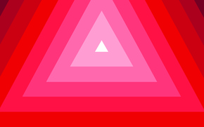 Picture background, triangles, Red, minimalism