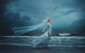 Picture wave, the wind, shore, art, the bride, TJ Drysdale, Madeleine Acton