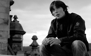Picture photo, black and white, actor, guy, picture, Cillian Murphy, Cillian Murphy