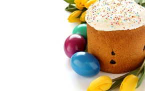 Picture Tulips, Easter, Eggs, Holiday, Food, Easter, Cakes