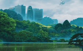 Picture Makoto Xingkai, Kotonoha no Niwa, The garden of words