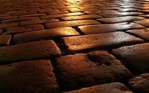 Wallpaper road, stone, the evening, masonry