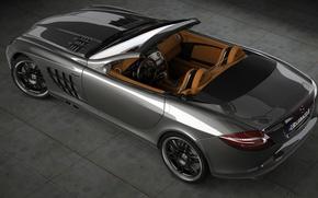Picture McLaren, Mercedes-Benz, art, supercar, brabus, roadster, Roadster, slr, dangeruss