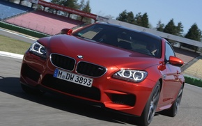 Picture machine, lights, speed, BMW, in motion, Coupe, the front, Competition Package