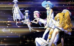Picture girls, anime, Art, Art, anime, sorceress, Houkago in the Pleiades, Houkago no Pleiades