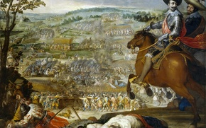 Picture picture, army, the battle, battle genre, Vincenzo Carducci, The victory at the Battle of Fleurus