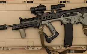 Wallpaper machine, rifle, assault, Tavor