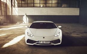 Picture Lamborghini, Front, White, Supercar, 2014, Huracan, LP610-4
