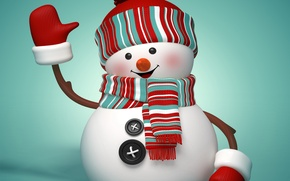 Picture New Year, Christmas, snowman, Christmas, winter, New Year, cute, snowman, Merry