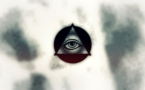 Picture round, triangle, the all-seeing eye