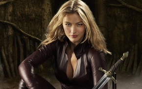 Picture girl, sword, fantasy, blonde, costume, the series, TV Series, Legend of the Seeker, Legend of …