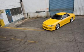 Picture nissan, R32, skyline, yellow