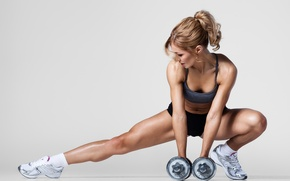 Picture legs, fitness, dumbbell, toning legs