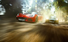 Picture Red, Race, Cars, Dubai, Green, Speed, Lotus Exige, Lotus Elise 111a in the