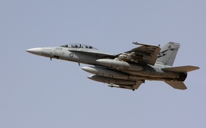 Picture The sky, The plane, Australia, Boeing, attack, Fighter-bomber, F/A-18 Super Hornet