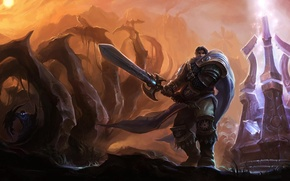 Picture weapons, the game, sword, warrior, art, League Of Legends