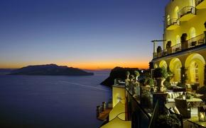 Picture sea, the evening, Italy, the hotel, Capri, Hotel Caesar Augustus