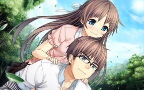 Picture anime, art, pair, two, monobeno