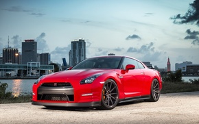 Picture GTR, Nissan, Red, Series, Vossen, Precision