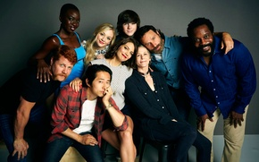 Picture actors, smile, The Walking Dead, Walking