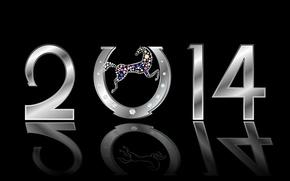 Picture diamonds, figures, holiday, 2014, horseshoe, horse