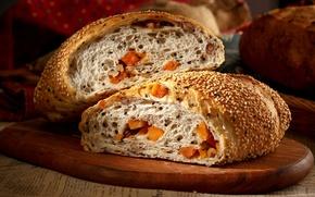 Picture bread, pumpkin, cakes, sesame