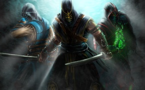 Picture Sub-Zero, Ermac, Scorpion, Assassins, Kombat, Mortal
