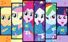 Picture The moon, Rainbow, applejack, my little pony, rainbow dash, twilight sparkle, rarity, pinkie pie, Spike, …