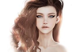 Picture girl, face, portrait