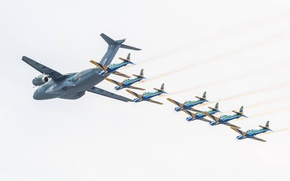 Picture KC-390, FAB, Embraer, Smoke Squadron, Brazilian Air Force, Force Air Brazilian, military aircraft