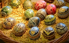 Picture holiday, eggs, Easter, basket, grain, Easter, eggs