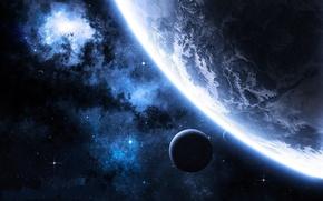 Picture stars, planet, satellites