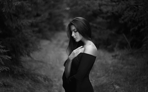 Wallpaper shoulder, dress, profile