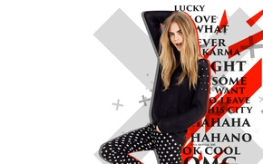 Wallpaper crosses, model, celebrity, Cara Delevingne, Cara Delevingne