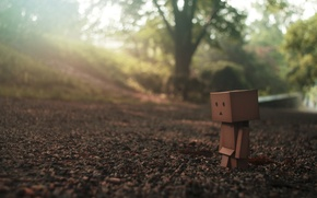 Picture road, sadness, look, macro, earth, one, danbo