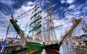 Picture Wallpaper, ships, yachts, pier
