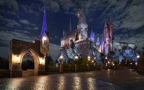 Wallpaper decoration, Hogwarts, castle