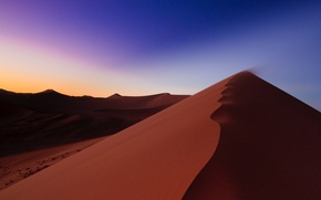 Wallpaper dunes, Africa, sunrise, the sky, desert, Namibia, sand