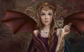 Picture girl, fiction, fantasy, art
