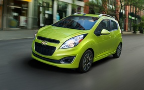 Picture city, Speed, Chevrolet, Red, Chevy, 2013, spark