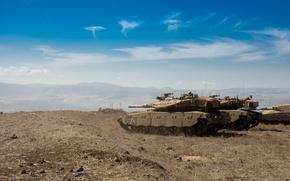 "Picture field, the sky, tank, combat, main, Merkava, Israel, Mk.3, ""Merkava"""