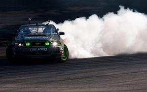 Picture Mustang, Ford, Drift, Monster Energy, Vaughn Gittin Jr, FormulaD