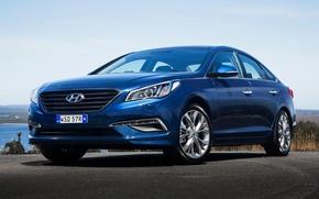 Wallpaper Hyundai, AU-spec, 2015, Hyundai, Sonata, Sonata